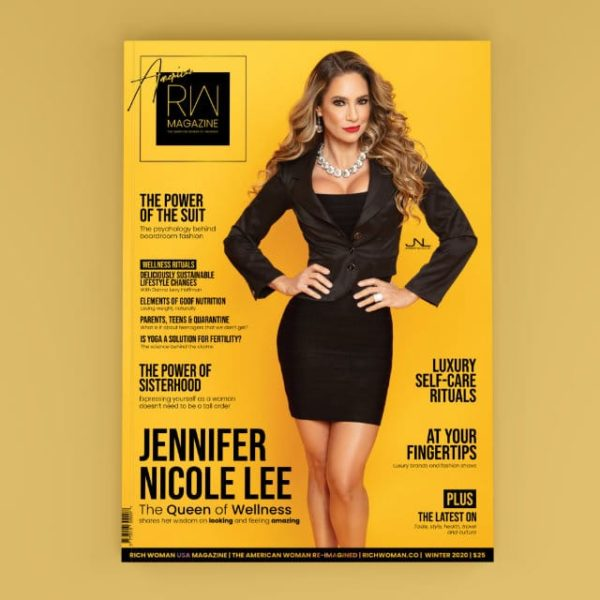 Rich Woman USA Edition (Winter 2020/21), featuring the Queen of Wellness, Jennifer Nicole Lee. Print copy, available with worldwide delivery.
