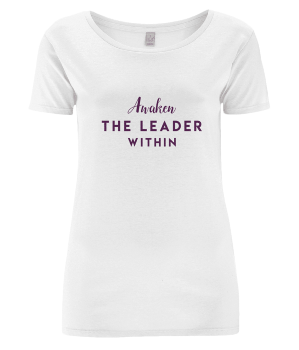 Celebrate the 24 Hour Leadership Summit with our Awaken The Leader Within women's t-shirt.